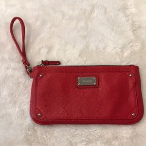 Nine West clutch wristlet red purse